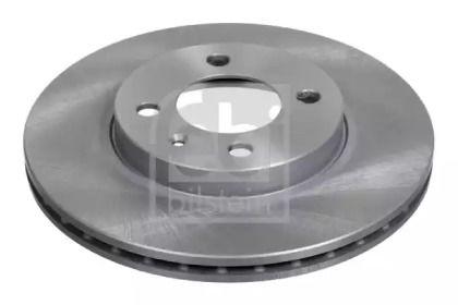 Вентилируемый передний тормозной диск на SEAT INCA 'FEBI 06512'.