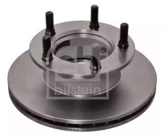 Вентилируемый передний тормозной диск на MERCEDES-BENZ 100 'FEBI 07396'.