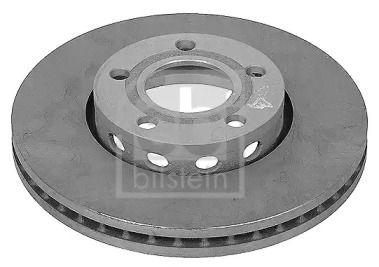 Вентилируемый передний тормозной диск на Ауди Кватро 'FEBI 08458'.