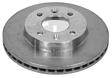 Вентилируемый передний тормозной диск на RENAULT 21 FEBI 09072.