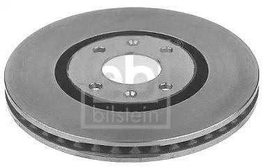 Вентилируемый передний тормозной диск на Пежо 406 'FEBI 10679'.