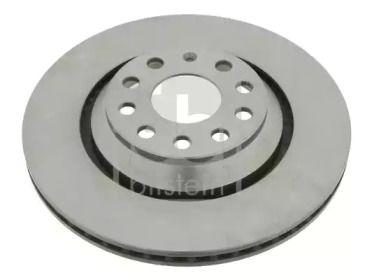 Вентилируемый задний тормозной диск на VOLKSWAGEN PASSAT ALLTRACK 'FEBI 24386'.