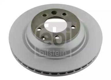 Вентилируемый задний тормозной диск на Ауди Ку7 'FEBI 28161'.