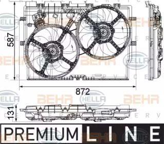 Вентилятор охлаждения радиатора 'BEHR/HELLA 8EW 351 041-451'.