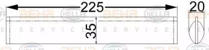 Осушитель кондиционера 'BEHR/HELLA 8FT 351 192-604'.