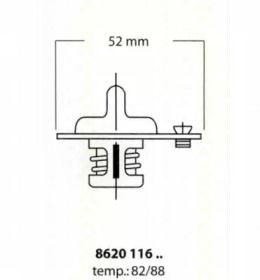 Термостат, охолоджуюча рідина на MAZDA MX-3 'TRISCAN 8620 11688'.