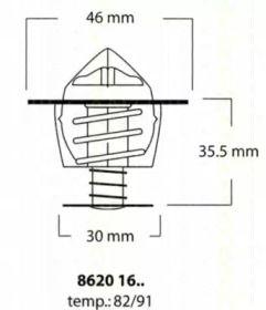 Термостат, охлаждающая жидкость 'TRISCAN 8620 1691'.