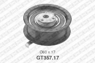Натяжний ролик ГРМ на SKODA FELICIA 'SNR GT357.17'.
