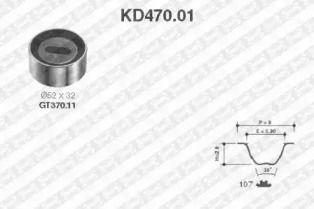 Комплект ременя ГРМ на Мазда МХ3 'SNR KD470.01'.