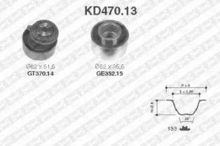 Комплект ременя ГРМ на Мазда Премаси SNR KD470.13.