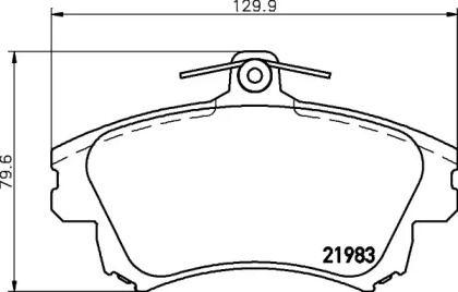 Гальмівні колодки 'PAGID T3095'.