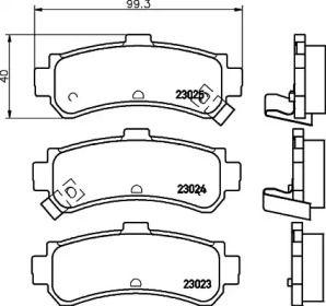 Тормозные колодки PAGID T3114.
