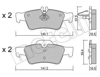 Гальмівні колодки на Mercedes-Benz W212 METELLI 22-0568-0.