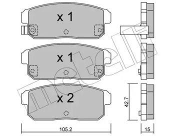 Гальмівні колодки на MAZDA RX-8 'METELLI 22-0733-0'.