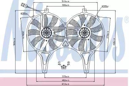 Вентилятор охолодження радіатора на Мерседес W210 NISSENS 85149.