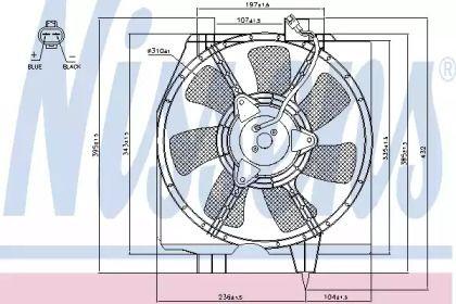 Вентилятор кондиціонера на MAZDA PREMACY 'NISSENS 85275'.