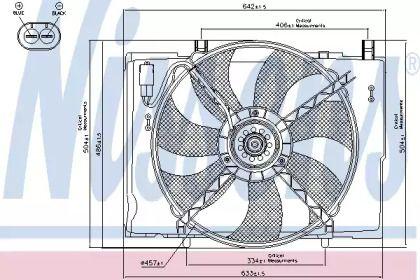Вентилятор охолодження радіатора на Mercedes-Benz W210 NISSENS 85290.