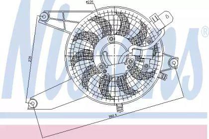 Вентилятор кондиционера NISSENS 85370.