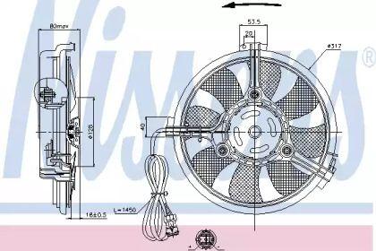 Вентилятор кондиционера на VOLKSWAGEN PASSAT NISSENS 85519.