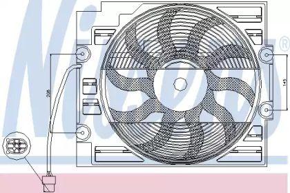 Вентилятор кондиціонера 'NISSENS 85629'.