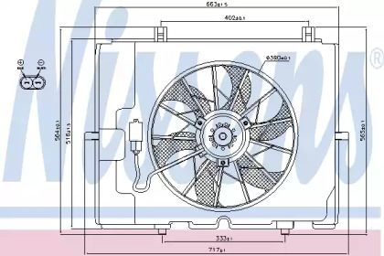 Вентилятор охолодження радіатора на Мерседес W210 NISSENS 85653.
