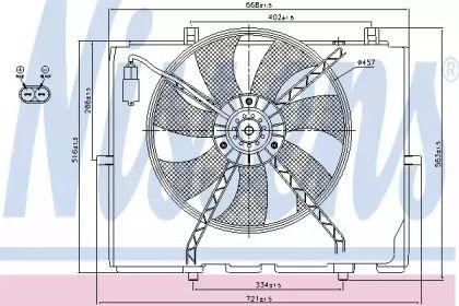 Вентилятор охолодження радіатора на Mercedes-Benz W210 NISSENS 85654.
