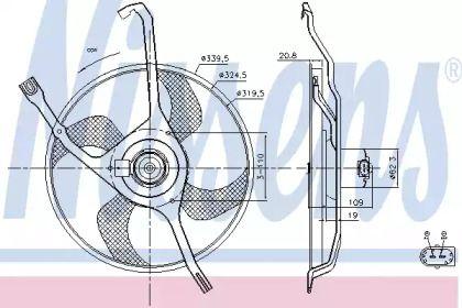 Вентилятор охлаждения радиатора на Пежо 207 'NISSENS 85665'.