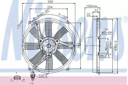 Вентилятор охолодження радіатора на Mercedes-Benz W210 NISSENS 85702.