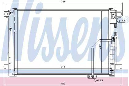 Радіатор кондиціонера на Mercedes-Benz W212 NISSENS 940035.