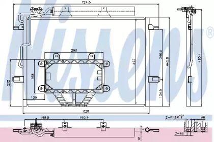 Радіатор кондиціонера на Мерседес W211 NISSENS 940325.