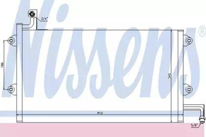 Радиатор кондиционера на Фольксваген Гольф 'NISSENS 94164'.