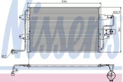 Радиатор кондиционера на Фольксваген Гольф 'NISSENS 94310'.