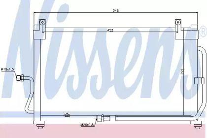 Радіатор кондиціонера 'NISSENS 94411'.