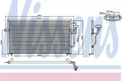 Радіатор кондиціонера на Мітсубісі Карізма NISSENS 94433.