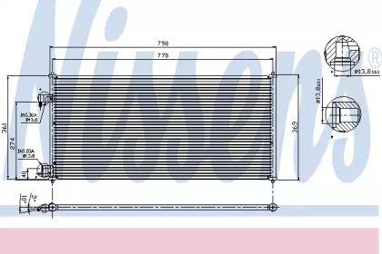 Радиатор кондиционера NISSENS 94664.