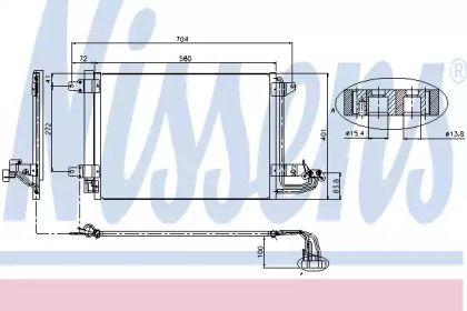 Радиатор кондиционера на Сеат Леон NISSENS 94684.