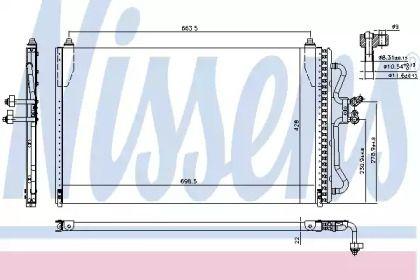Радіатор кондиціонера на MAZDA TRIBUTE NISSENS 94731.