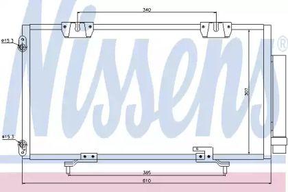Радиатор кондиционера 'NISSENS 94833'.
