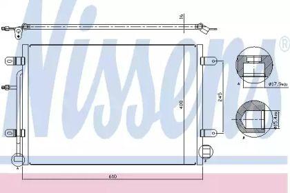 Радіатор кондиціонера NISSENS 94851.