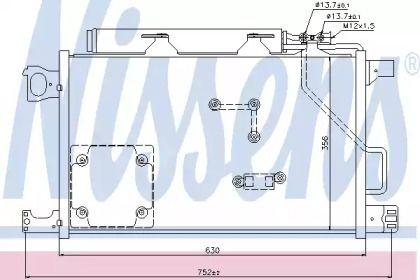 Радіатор кондиціонера 'NISSENS 94857'.