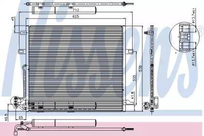 Радіатор кондиціонера на Мерседес Г Клас  NISSENS 94897.