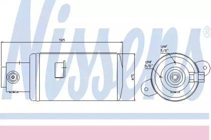 Осушувач, кондиціонер на Мерседес Г Клас  NISSENS 95076.