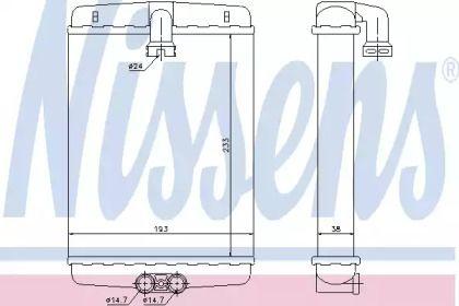 Радіатор печі на Mercedes-Benz W210 NISSENS 72013.