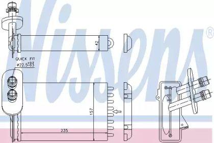 Радиатор печки на Фольксваген Поло 'NISSENS 73921'.