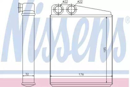 Радиатор печки на SKODA OCTAVIA A5 'NISSENS 70228'.