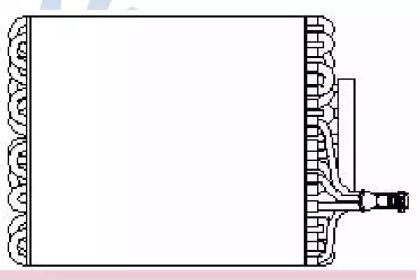 Испаритель кондиционера на Фольксваген Гольф NISSENS 92135.
