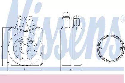 Масляный радиатор на Шкода Октавия А5 'NISSENS 90606'.