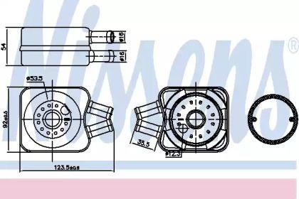 Масляный радиатор на Сеат Толедо 'NISSENS 90607'.