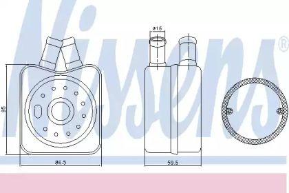 Масляный радиатор на Шкода Октавия А5 'NISSENS 90608'.