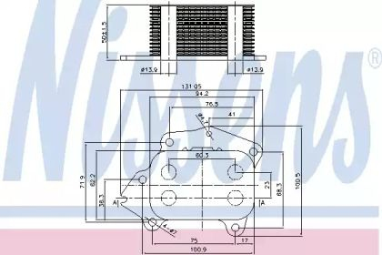 Масляний радіатор на Мітсубісі АСХ 'NISSENS 90717'.